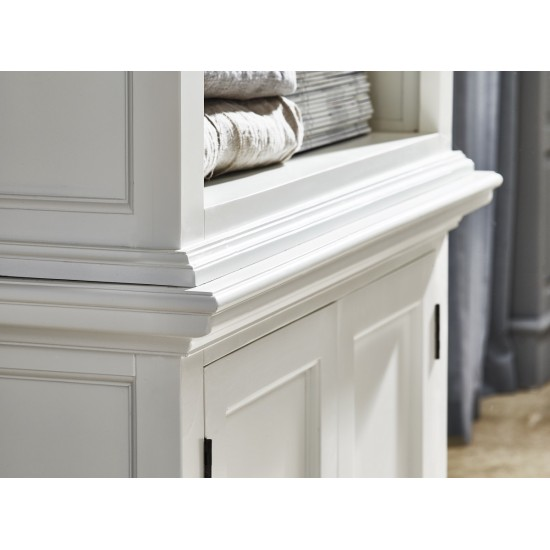 Cannes White Single Display Cabinet Buffet Hutch 2 Doors