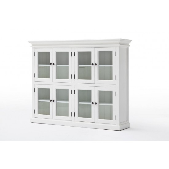 Cannes Large White Glazed Display Cabinet